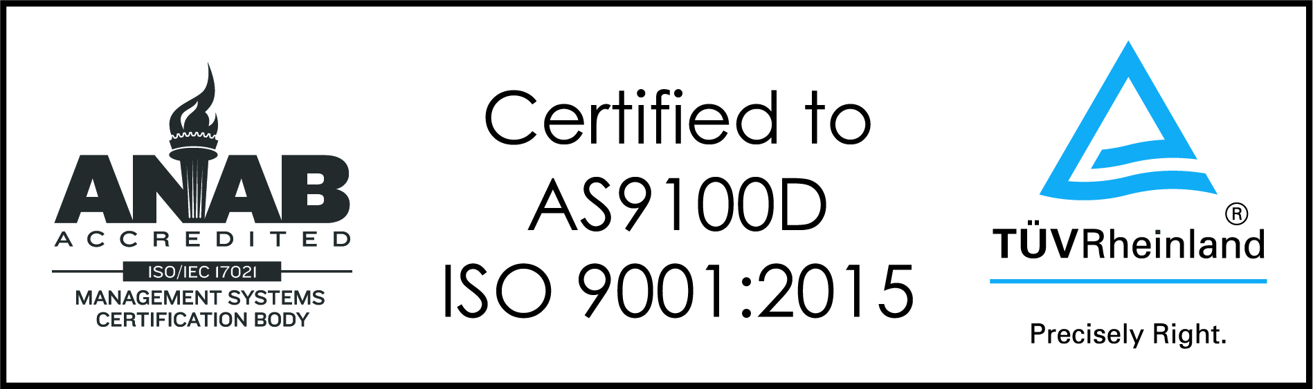 AS 9100 and ISO 9001 Certification Logo